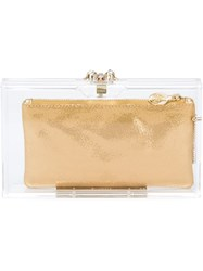 Charlotte Olympia 'Pandora' Clutch Nude And Neutrals