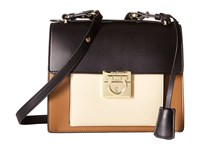 Salvatore Ferragamo Marisol 21F564 Ecorce Nero Macadamia Satchel Handbags Multi