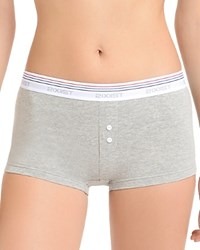 2Xist 2 X Ist Retro Cotton Boy Shorts Wu0133 Gray