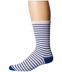 Obey Marseille Socks Blue White Men's Crew Cut Socks Shoes