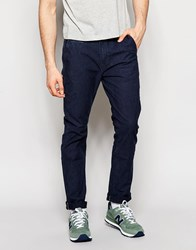 Lee Chino Pants Slim Fit In Stretch Indigo Canvas Hard Blue