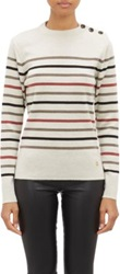 Armor Lux Mix Stripe Sweater Brown