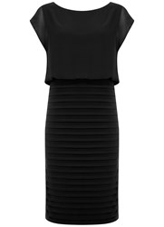 Mint Velvet Black Chiffon Bandage Dress Black