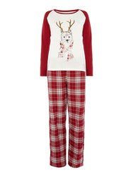 Dickins And Jones Pj Westy Dog Set Red