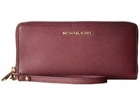 Michael Michael Kors Jet Set Travel Travel Continental Plum Clutch Handbags Purple