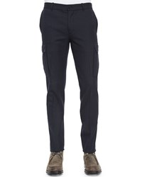 Vince Military Style Cargo Dress Pants Navy Women's