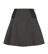 Alice Olivia Elsie Textured Skater Skirt Female Grey