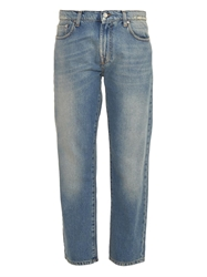 Msgm M Patch Mid Rise Straight Leg Jeans