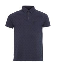 Realm And Empire Desert Rat All Over Print Polo Shirt Navy