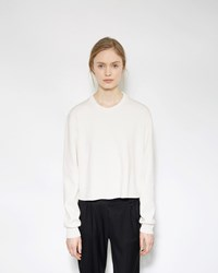 Acne Studios Misty Clean Pullover Optic White