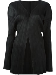 Issey Miyake Vintage Pleated Open Front Jacket Black