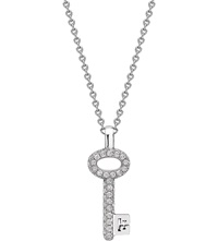 Theo Fennell White Gold And Diamond Mini Key Pendant