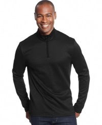 Alfani Black Fitz Feeder Quarter Zip Sweater Only At Macy's Deep Black