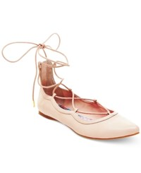 Madden Girl Madden Girl Edgyyy Tie Up Flats Women's Shoes Nude