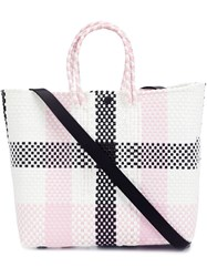 Truss Nyc Checked Small Tote Black