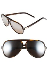 Women's Marc Jacobs 60Mm Aviator Sunglasses Dark Havana