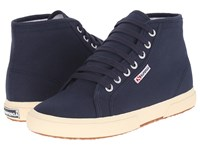 Superga 2095 Cotu Navy Off White Lace Up Casual Shoes Black