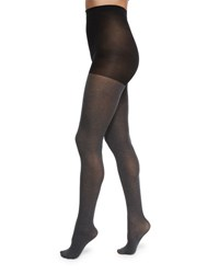 Neiman Marcus Opaque Tights Charcoal