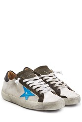 Golden Goose Super Star Leather Sneakers Multicolor