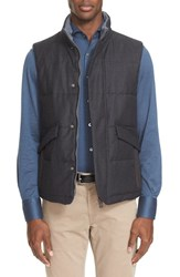 Canali Men's Pin Dot Reversible Wool Vest