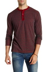 Agave Green Long Sleeve Double Fold Henley Red