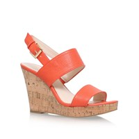 Nine West Lucini High Heel Wedge Sandals Red