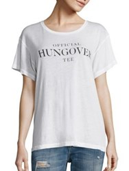 Wildfox Couture Officially Hungover T Shirt Clean White