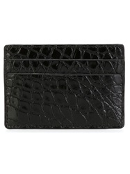 Versace Crocodile Effect Cardholder Black
