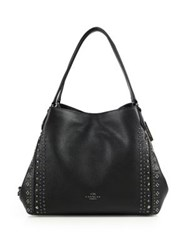 Coach Studded Leather Hobo Black
