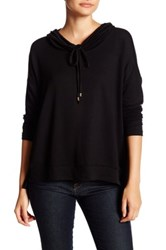 Bobeau Long Sleeve Cowl Neck Sweater Petite Black