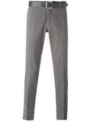 Pt01 Belted Chino Trousers Grey