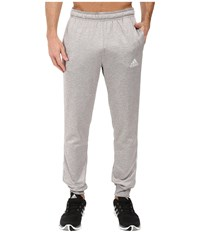 Adidas Team Issue Fleece 3 Stripes Jogger Light Grey Heather Lgh Solid Grey Men's Workout Gray