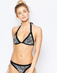 Ted Baker Zebra Puzzle Cut Out Bikini Top Multi