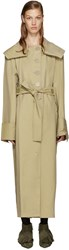 J.W.Anderson Tan Draped Trench Coat
