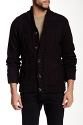 American Stitch Cable Knit Cardigan Black