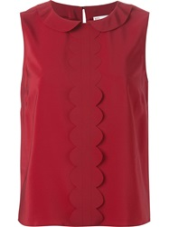 Red Valentino Peter Pan Collar Sleeveless Top