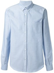 Melindagloss Buttoned Collar Shirt Blue