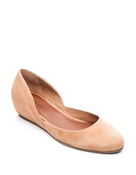 Bernardo Nakita Suede Hidden Wedge Flat Pumps Camel