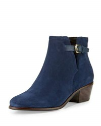 Cole Haan Willette Suede Buckle Bootie Blue