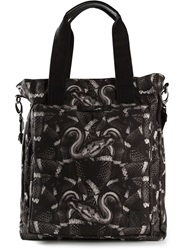 Marcelo Burlon County Of Milan Snake Print Shopper Black