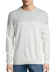 Black Brown Colorblocked Cashmere Sweater White Sand