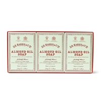 D R Harris Three Pack Almond Oil Soaps Green