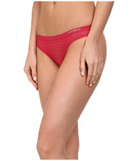 Emporio Armani Lace All Over Lace Thong Magenta