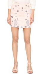 J.O.A. Embroidered Miniskirt Blush
