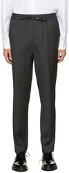 3.1 Phillip Lim Grey Wool Tapered Trousers