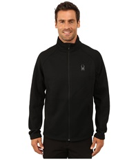 Spyder Constant Full Zip Mid Weight Core Sweater Black Black Men's Sweater