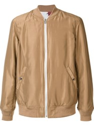 Undercover Zipped Bomber Jacket Nude Neutrals