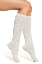 Ralph Lauren Women's Variegated Rib Knit Knee High Socks Sweatshirt Grey