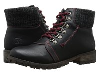 Chinese Laundry Tracker Black Women's Work Lace Up Boots