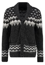 Abercrombie And Fitch Cardigan Black Pattern Anthracite